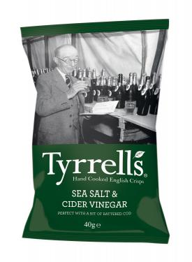 Tyrrells Cider Vinegar & Sea Salt, 24 Packungen à 40 g
