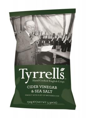 Tyrrells Cider Vinegar and Sea Salt, 8 Packungen à 150 g